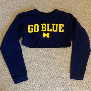 Cropped Umich crew neck sweatshirt